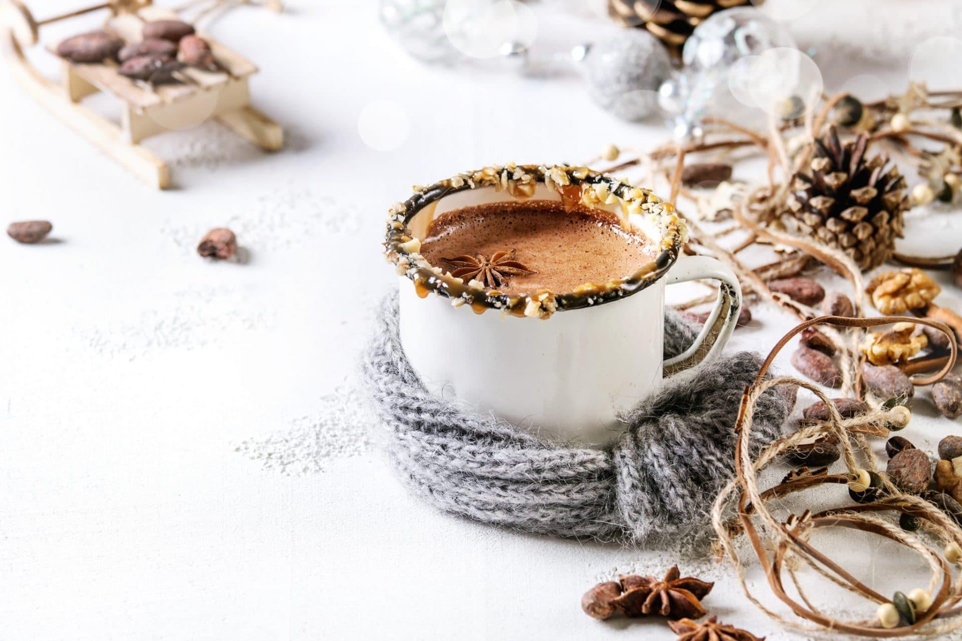 Mug of hot chocolate